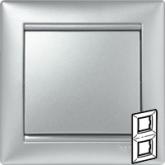 Legrand Valena Алюминий Рамка 2-ая верт. (770156), 770156, 346.11 р., 770156, Legrand, Розетки и выключатели