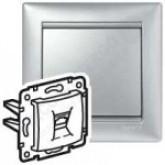 Legrand Valena Алюминий Накладка RJ45 (770255), 770255, 56.21 р., 770255, Legrand, Розетки и выключатели