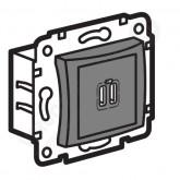 Legrand Valena Алюминий Розетка 2-ая USB (770270), 770270, 2 229.52 р., 770270, Legrand, Розетки и выключатели