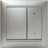 Legrand Valena Алюминий Светорегулятор нажимной 40-600W для л/н и обмоточных т-ров (770274), 770274, 4 080.71 р., 770274, Legrand, Розетки и выключатели