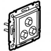 Legrand Valena Алюминий Розетка 3 RCA (770284), 770284, 6 134.82 р., 770284, Legrand, Розетки и выключатели