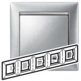 Legrand Valena Алюминий матовый Рамка 5-ая гориз (770335), 770335, 1 117.63 р., 770335, Legrand, Розетки и выключатели