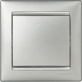 Legrand Valena Алюминий/Серебряный штрих Рамка 1-ая (770351)