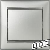 Legrand Valena Алюминий/Серебряный штрих Рамка 3-ая горизонт. (770353), 770353, 669.24 р., 770353, Legrand, Розетки и выключатели