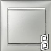 Legrand Valena Алюминий/Серебряный штрих Рамка 2-ая вертикал. (770356), 770356, 448.39 р., 770356, Legrand, Розетки и выключатели