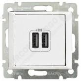 Legrand Valena Бел Розетка 2-ая USB (770470)
