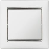 Legrand Valena Белый/Серебряный штрих Рамка 1-ая (770491)