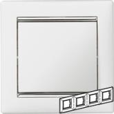 Legrand Valena Белый/Серебряный штрих Рамка 4-ая горизонт. (770494)