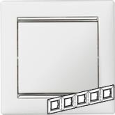 Legrand Valena Белый/Серебряный штрих Рамка 5-ая горизонт. (770495), 770495, 1 206.33 р., 770495, Legrand, Розетки и выключатели