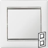 Legrand Valena Белый/Серебряный штрих Рамка 2-ая вертикал. (770496), 770496, 483.94 р., 770496, Legrand, Розетки и выключатели