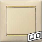 Legrand Valena Крем/Золото Рамка 2-ая горизонт. (774152), 774152, 334.62 р., 774152, Legrand, Розетки и выключатели