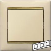 Legrand Valena Крем/Золото Рамка 3-ая горизонт. (774153), 774153, 501.93 р., 774153, Legrand, Розетки и выключатели