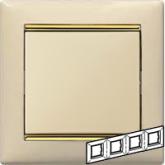 Legrand Valena Крем/Золото Рамка 4-ая горизонт. (774154), 774154, 669.24 р., 774154, Legrand, Розетки и выключатели