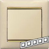 Legrand Valena Крем/Золото Рамка 5-ая горизонт. (774155)