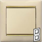 Legrand Valena Крем/Золото Рамка 2-ая вертикал. (774156), 774156, 334.62 р., 774156, Legrand, Розетки и выключатели