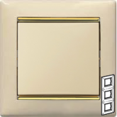 Legrand Valena Крем/Золото Рамка 3-ая вертикал. (774157)