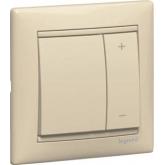 Legrand Valena Крем Светорегулятор нажимной 40-600W для л/н и обмоточных т-ров (774174)