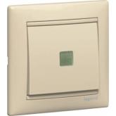 Legrand Valena Крем Выключатель 1-клавишный с подсветкой (774310), 774310, 472.06 р., 774310, Legrand, Розетки и выключатели