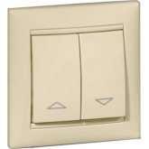 Legrand Valena Крем Выключатель жалюзийный кнопочный (774314), 774314, 764.19 р., 774314, Legrand, Розетки и выключатели