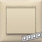 Legrand Valena Крем Рамка 4-ая гориз (774354), 774354, 397.56 р., 774354, Legrand, Розетки и выключатели