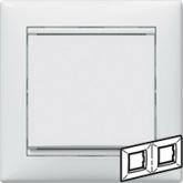 Legrand Valena Бел Рамка 2-ая гориз (774452), 774452, 106.13 р., 774452, Legrand, Розетки и выключатели