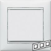 Legrand Valena Бел Рамка 3-ая гориз (774453), 774453, 213.51 р., 774453, Legrand, Розетки и выключатели