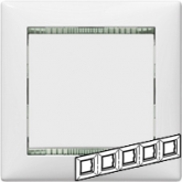 Legrand Valena Бел/кристалл Рамка 5-ая гориз (774465), 774465, 1 159.50 р., 774465, Legrand, Розетки и выключатели
