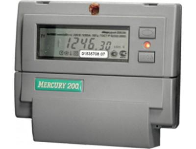 Электросчетчик Меркурий 200.02 5(60)А/230В многотарифный, ЖКИ (двухтарифный)