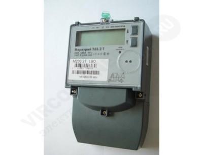 Однофазный электросчетчик Меркурий 203.2T GBO 5(60)А/230В многотарифный, ЖКИ, оптопорт, GSM