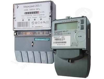 Электросчетчик Меркурий 203.2T LBO 5(60)А/230В многотарифный, ЖКИ, опт.порт, PLC