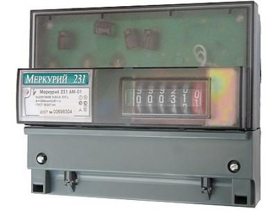 Электросчетчик Меркурий 231 AM-01 5(60)A/380В (ДИН)
